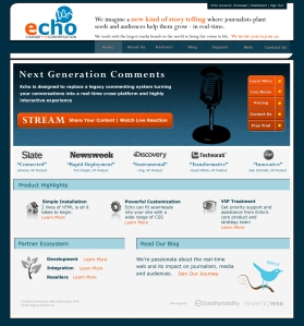 Echo Website Design Composition